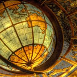 Градусная сеть на глобусе
