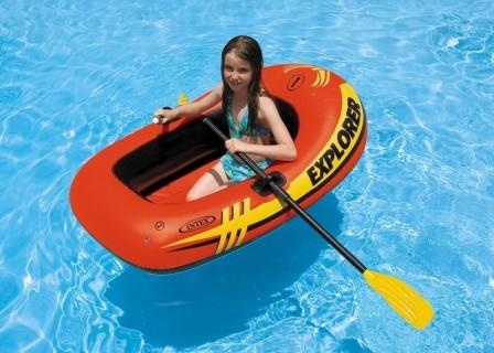 Детская резиновая лодка