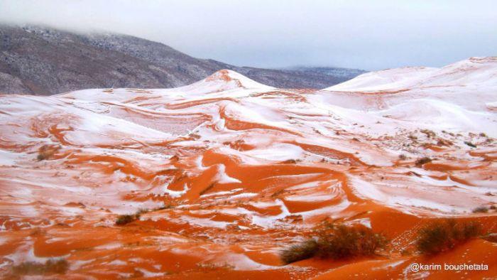 В пустыне Сахара выпал снег » Новости со всего мира,Интересные новости,Интересные факты,Новости России сегодня,.