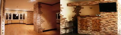 Облицовка стен жилья камнем