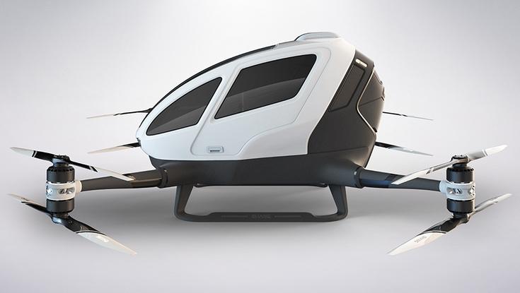 Беспилотное летающее такси запустят в Дубае уже летом