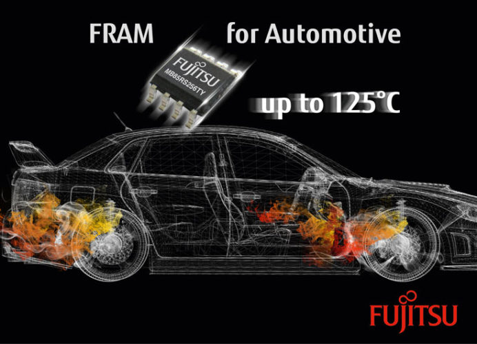 Fujitsu выпускает память FRAM для автомобильной электроники
