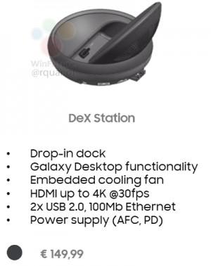 Док-станция Samsung DeX Station для Samsung Galaxy S8 оснащена системой активного охлаждения