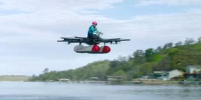 Прототип уникального «летающего автомобиля» попал на видео
