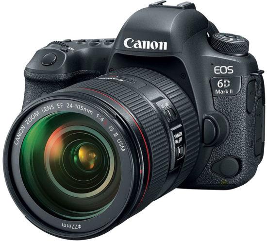 Представлена полнокадровая цифровая зеркальная камера Canon EOS 6D Mark II
