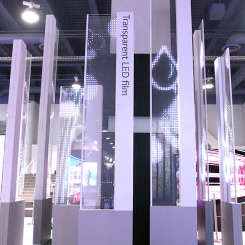 Компания LG показала прозрачный светодиодный дисплей Transparent LED Film Display