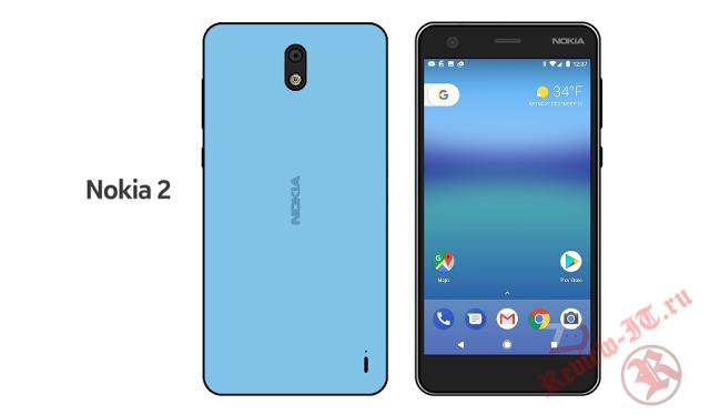 В Сети появились рендеры смартфона Nokia 2