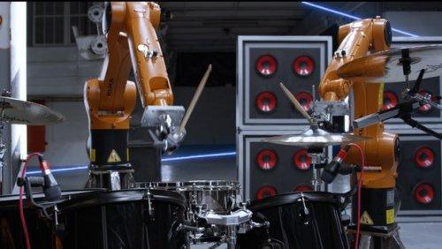 Automatica - оркестр промышленных роботов, играющих на ударных, гитаре, фортепьяно и других инструментах