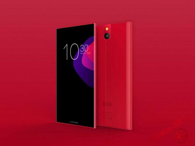 Смартфон Elephone S8 поступит в продажу в красном цвете