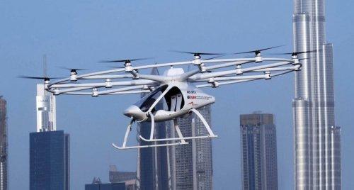 """""""Летающее такси"""" компании Volocopter совершило первый беспилотный полет в условиях большого города"""