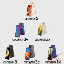 В Интернете появилось изображение с 6 новыми смартфонами от Alcatel