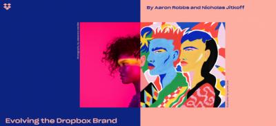 Dropbox представил яркий дизайн