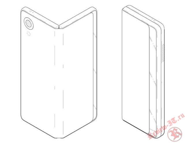 Компания LG запатентовала смартфон со складывающимся дисплеем