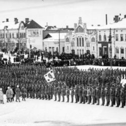 Парад егерей, 1918 год, Вааса, Финляндия