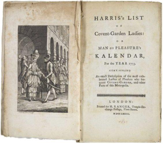«Список Харриса», или Каталог лондонских проституток 1789 года