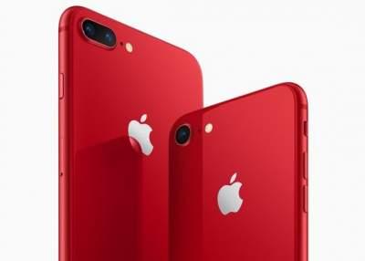 Apple выпустила красный iPhone 8