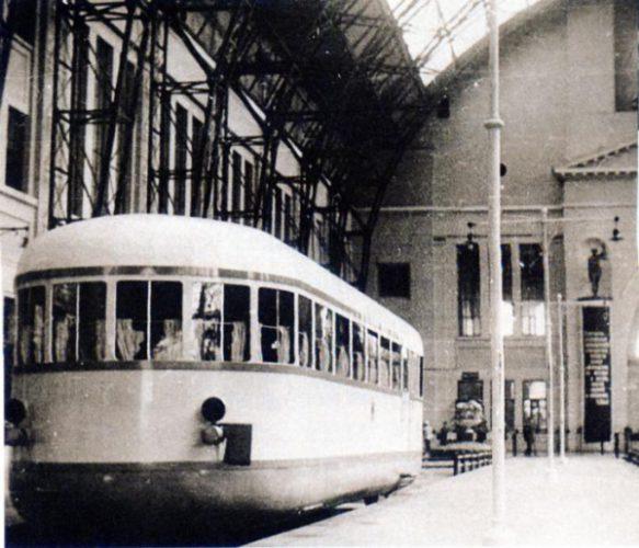 Автомотриса на Киевском вокзале, 1938, Москва