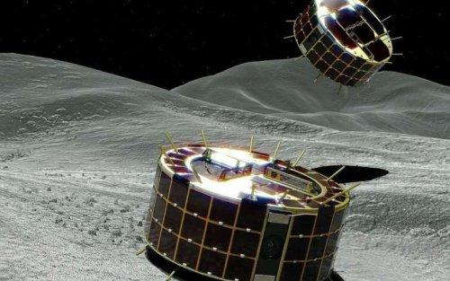 """Японский космический зонд Hayabusa-2 опустил два """"прыгающих"""" ровера на поверхность астероида Рюгу"""