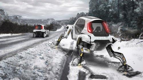 """Elevate - концепт """"шагающего"""" автомобиля от Hyundai, который выводит на новый уровень понятие колеса"""
