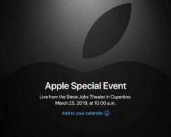 Следующая презентация Apple пройдет 25 марта