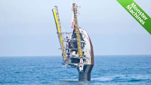 Машины-монстры: RP FLIP - странное исследовательское судно, которое может становиться в вертикальное положение