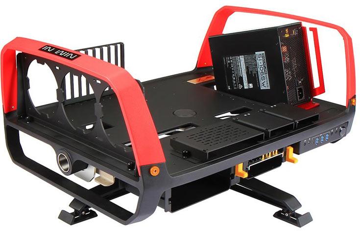 Компьютерный корпус In Win X-Frame 2.0 комплектуется блоком питания мощностью 1065 Вт