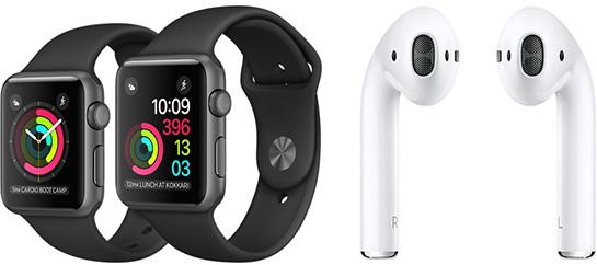 Аналитик удивлен низкой ценой наушников Apple AirPods и умных часов Apple Watch