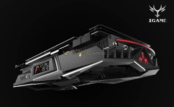 3D-карта Colorful GeForce GTX 1080 Ti iGame будет оснащена цветным жидкокристаллическим индикатором