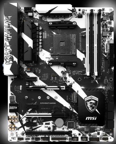 Системная плата MSI X370 Krait Gaming получила порт PS/2 с утроенной позолотой