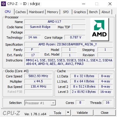 AMD Ryzen 7 1800X разогнали до рекордной частоты 5,8 ГГц
