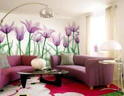 Использование цветочных мотивов в интерьере
