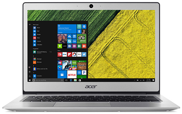 Компактный ноутбук Acer Swift 1 построен на платформе Intel Apollo Lake и заключен в металлический корпус