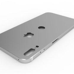 Дизайнер создал трехмерную модель корпуса iPhone 8 на базе утекшего в Сеть чертежа