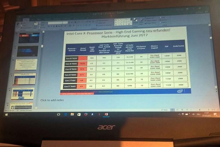 Процессоры Intel Skylake-X получат имена Core i9-7920X, Core i9-7900X, Core i9-7820X и Core i9-7800X