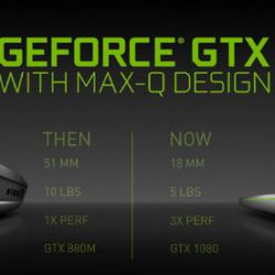 В рамках инициативы Nvidia Max-Q на рынке появятся игровые ноутбуки толщиной 18 мм с видеокартами GeForce GTX 1080
