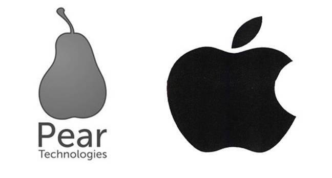Apple посчитала, что груша слишком похожа на яблоко, и в судебном порядке запретила Pear Technologies зарегистрировать свой логотип