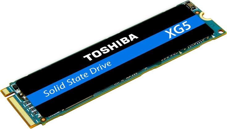 В твердотельных накопителях Toshiba XG5 с поддержкой NVMe используется 64-слойная флэш-память