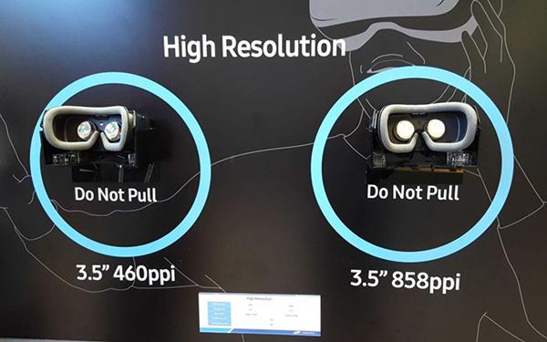 Новый экран Samsung для гарнитур VR характеризуется плотностью пикселей 858 на дюйм