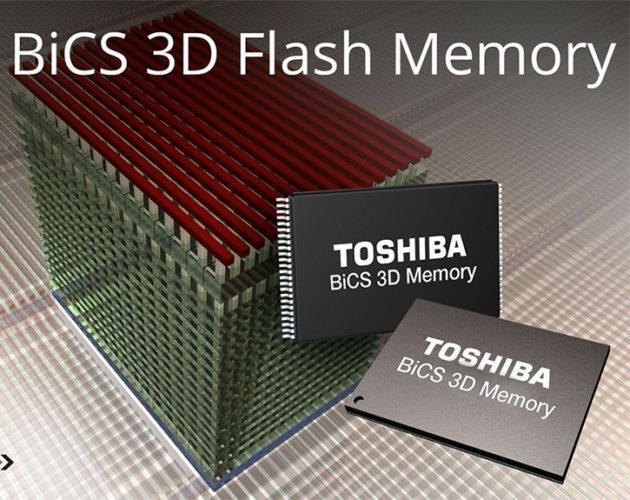 Компания Toshiba представила 96-слойную память 3D TLC NAND, выпуск которой она надеется начать в будущем году