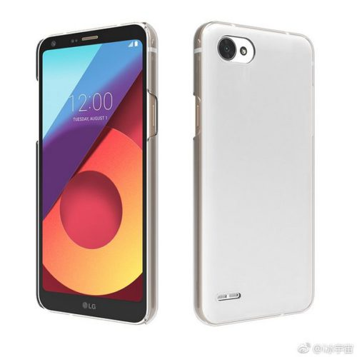 Изображение смартфона LG Q6 демонстрирует отсутствие сканера отпечатков пальцев