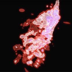 Астрофизики показали на видео, как черная дыра пожирает космическую медузу