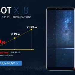 Cubot открыла предзаказ на бюджетный смартфон X18 с дисплеем 18:9
