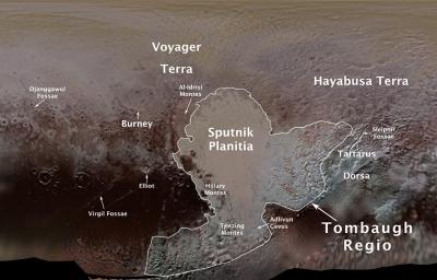Ученые представили первую официальную карту Плутона