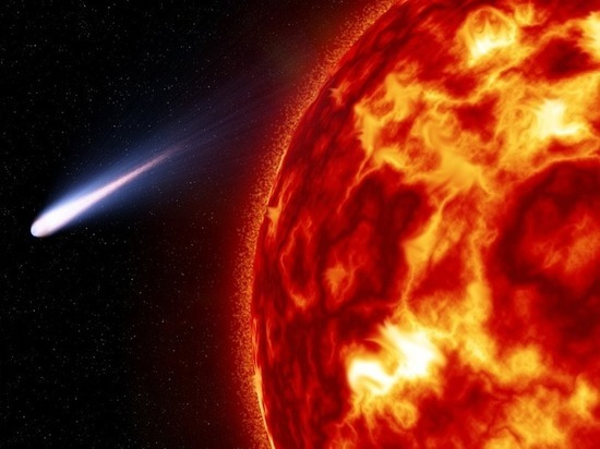 Ученые рассказали, как Солнце спасло Марс, оторвав хвост комете