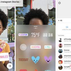 В соцсети Instagram появились голосования