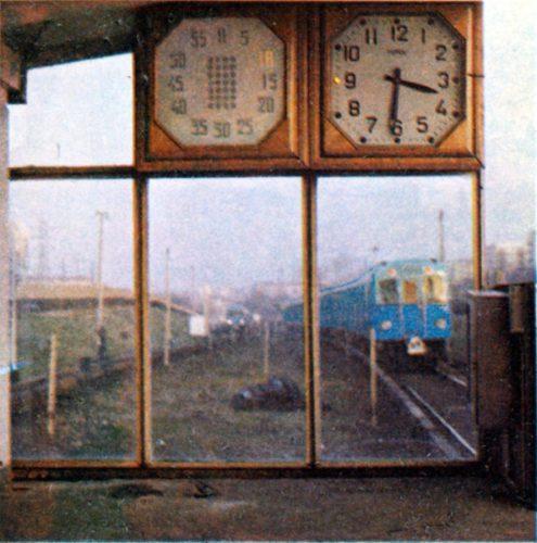 Станционные часы на станции Пионерская Московского метрополитена, 1973 год, Москва