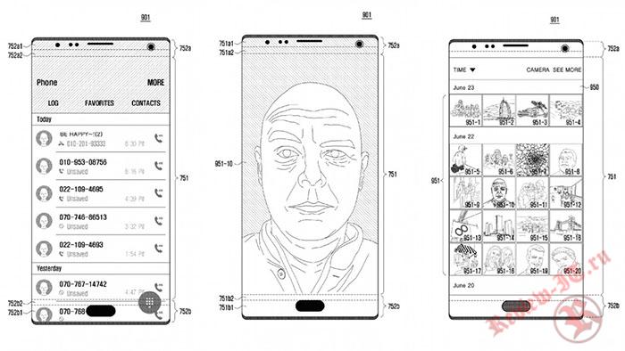 Samsung планирует спрятать датчики и динамик под дисплеем смартфона