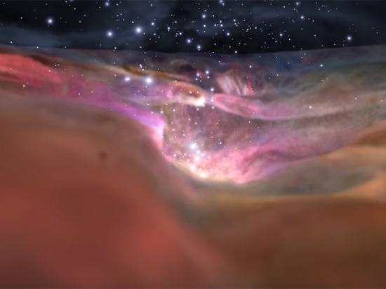 NASA по-голливудски показало полет сквозь Туманность Ориона