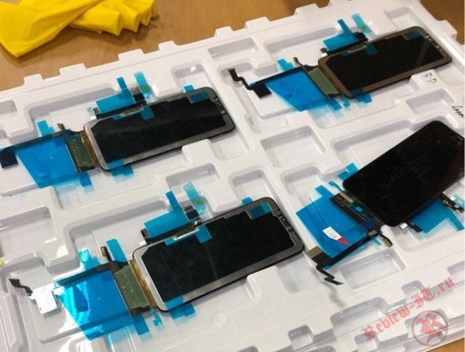 В Сети появились фотографии дисплея iPhone X Plus