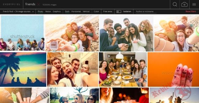 Запущен первый российский поисковик по стоковым фотографиям Everypixel